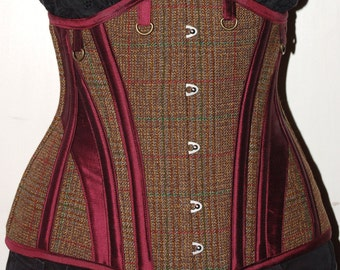 Lancashire Wool and Silk underbust Steel Boned Corset