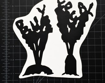 Buy Local Carrots Vinyl Sticker Black