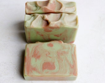 Young Oak Beer Soap Bar - Fresh Cucumber, Clean Cut Oak Scent, Handmade Cold Process Soap with Sleeping Giant Brewery Beer