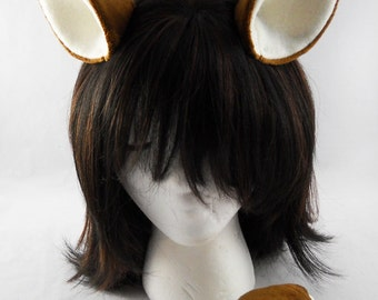 Clip-On Deer Ears and Tail