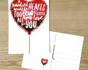 card Valentine's Day, Valentine's Day, postcard
