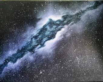 Original Abstract Galaxy Painting 12x16