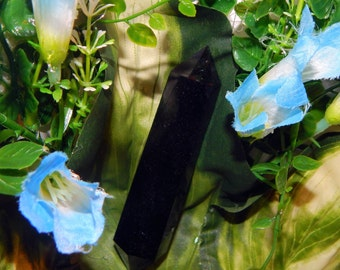 NATURAL OBSIDIAN Wand Double Terminated Lg Size - Reiki Wicca Pagan Energy-work Tool