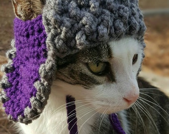 Trapper Hat for Cats, Bomber Hat for Cats, Hats for Cats, Winter Cat Hat, Winter Cat Clothing , Winter Cat Clothes