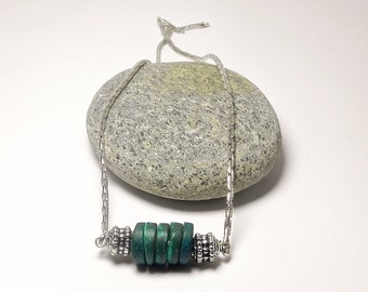 Green Necklace Beadwork Necklace Beaded Necklace - Everyday Necklace Handmade Necklace Delicate Necklace - Gift for Her Fashion Necklace