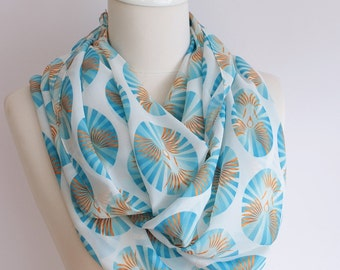 Birds Print Infinity scarf Circle scarf Loop scarf scarves summer spring fall winter fashion gift ideas for her girlfriend wife