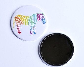 Zebra 76mm Pocket Mirror. The Zebra of Joy Pocket Mirror. A mirror perfect for pockets and handbags and Zebra lovers