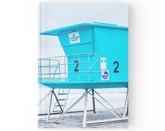 Beach Journal - Nature Gift - Blue Stationary - Cute Journal for Writing - Journal - Ocean Book - Hard Cover Journal - Beach Notebook