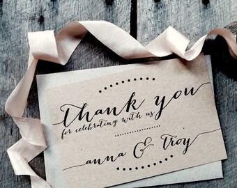 Wedding Thank you Cards, Thank you cards, Thank you Notes, Thank you note cards