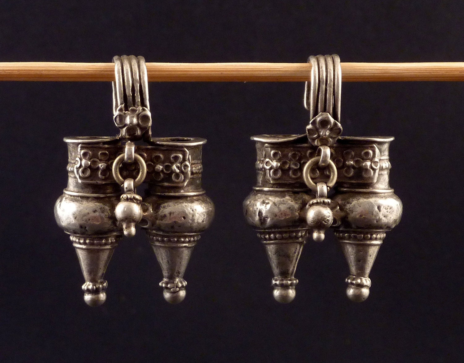 antique indian nagali earrings silver indian jewelry