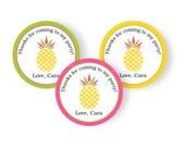 Pink Pineapple Cupcake Toppers | Pineapple Luau Party | Pineapple Party Printable | Party Tags | Party Favor | Custom | NRCDesignStudio