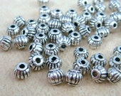 Spacer Bead - Silver Lantern Spacer Bead (N0017AS) - 5x4mm - Antiqued Silver - Qty. 50