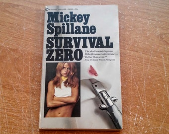 "Vintage Paperback, ""Survival Zero"" by Mickey Spillane, 1971."