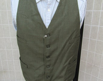 Steampunk Style Green & Brown Pattern Wasitcoat, Vest
