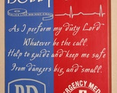 Police/Paramedic Hybrid Wall Art, LEO/EMS Decor, Distressed Wood Sign, LEO Sign, Paramedic Sign, Police Couple - As I Perform My Duty 12x17