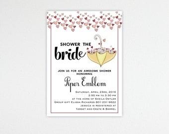 Bridal Shower Invitation, Bridal Luncheon Invitations, Wedding Shower Invitation,  digital, printable, BW1467