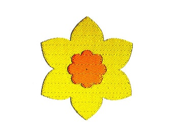 Daffodil Flower Machine Embroidery Design