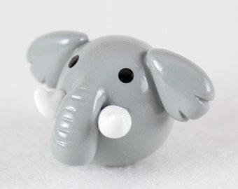 Chubby Elephant Totem - Polymer Clay Totem Animal - Elephant Figurine - Miniature Elephant - Spirit Animal Sculpture - Fat Animal