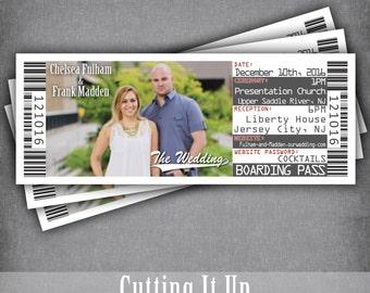 Destination Wedding Boarding Pass Invitation Ticket, Wedding Boarding Pass Invite, Travel Invitation, Cruise Wedding, Airplane, DIY Template