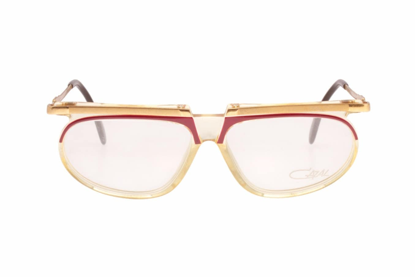 db485c78d9 335 vintage hype avant garde flat top clear   red frames with golden