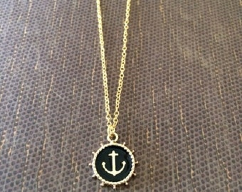 Anchor Necklace - Anchor Necklace in Handmade - Anchor Necklace Gold - Anchor Jewelry - Nautical Necklace - Nautical Jewelry -  Nautical