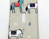 Horses Light Switch Plate Cover / Outlet Cover / Bedroom / Home Decor / Baby Shower Gift / Nursery Decor / Kid's Room / Farm / Ranch / Horse
