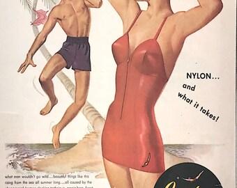 1950s Jantzen swimsuit ad - Pete Hawley