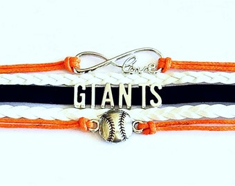 San Francisco Giants Bracelet, Giants Gear, Giants Accessories, SF Giants Jewelry, Gift Ideas, Gifts For Her, Giants Fans, Giants MLB