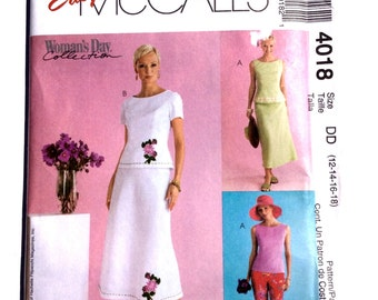 Easy McCall's 4018, Women's Skirt, Top, and Pants Pattern, Woman's Day Collection, Uncut, Size 12, 14, 16, 18