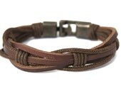 Men's Leather bracelet Braided Brown, Boyfriend Gift, Gift For dad, Mens Bracelet, Brother Gift, Mens gift ideas, Anniversary Gift for Him