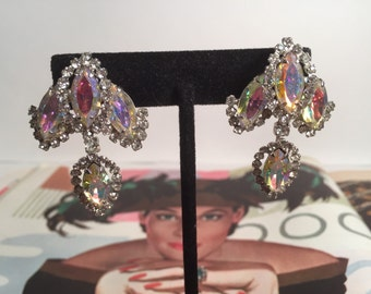 Sparkling Aurora Borealis Earring Set by Weiss