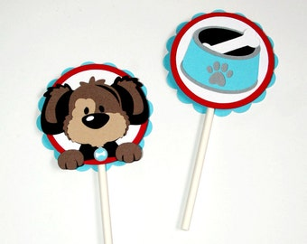 Puppy Cupcake Toppers - Set of 12