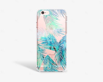 iPhone 7 Plus Case Tropical iPhone SE Case Clear Summer Party Gifts iPhone 7 Case Clear Tropical Print iPhone 6s Case Samsung S7 Case Palms