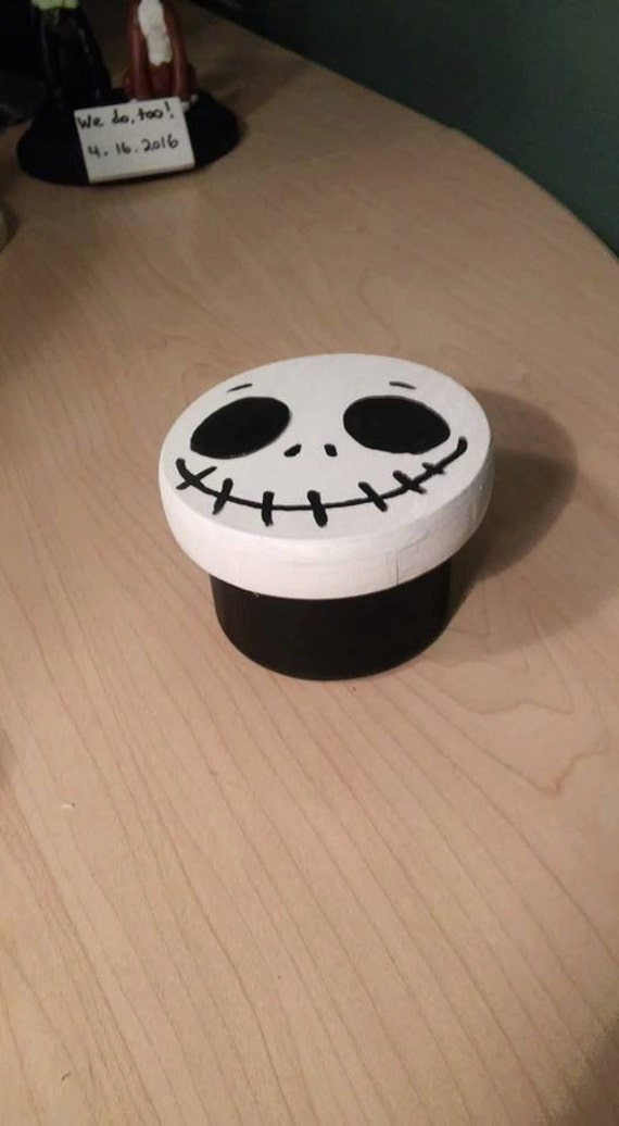 The Nightmare Before Christmas Jack Skellington Ring Box Can