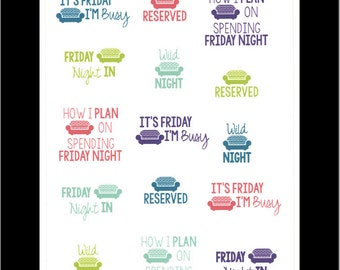 Friday Night! || Stickers for Life Planner