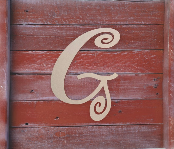 Decorative wooden letters large or small unfinished for Small wooden letters for crafts