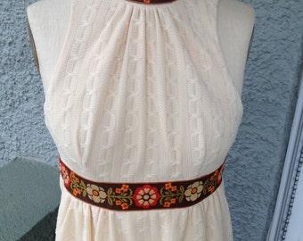 Amazing 70's Boho Maxi Dress, Small/ Medium, from Jerell of Texas