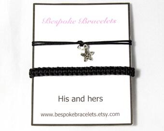 Couples Bracelet | His and hers | Flower bracelet | Friendship bracelet | Stackable bracelets | Layering bracelets | Boho bracelet