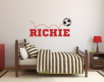 Soccer Wall Decal | Etsy