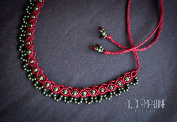 Boho elven necklace