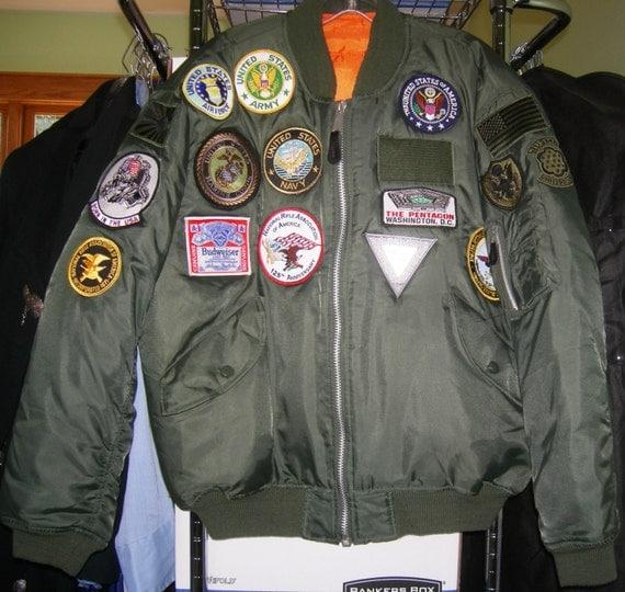 Vintage USAF Flight Jacket US Military Uniform Aviator AIR