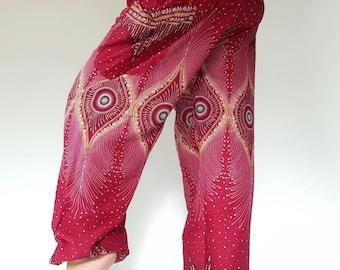 SM0097 Thai Genie Pants Comfy Trouser, Gypsy Pants Rayon Pants,Aladdin Pants Maxi Pants Boho Pants