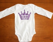 Princess Crown Name Onesie