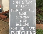 5th Anniversary Gift | First We Had Each Other Then We Had You Now We Have EVERYTHING | 10th anniversary gift |wife husband anniversary gift