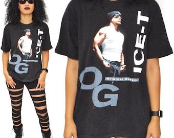 Vintage 90s Ice-T OG Original Gangster Old School Rap Hip Hop T Shirt Sz L