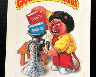 Vintage 80s Garbage Pail Kids Series 1 Cranky Frankie 18a Glossy Sticker Trading Card