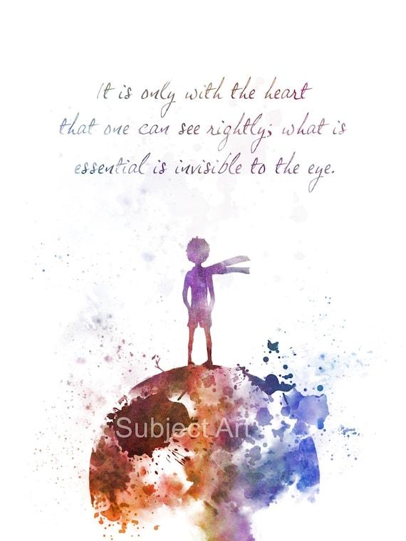 Geliebte Der kleine Prinz inspiriert Zitat Kunstdruck Illustration Le MH68
