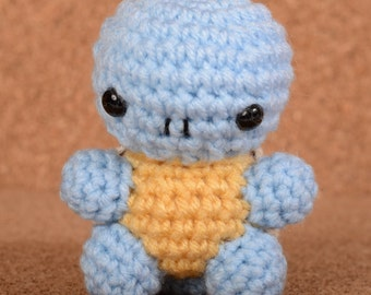 Mini Squirtle Pokemon Crochet Toy Doll