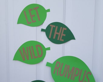 Where the Wild Things Are Door Sign, Let the wild rumpus start door sign, Where the Wild Things Are Door Birthday Decoration, Wild