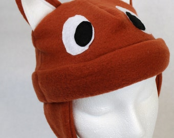 Fox Fleece Hat (Baby, Child, and Youth Sizes)